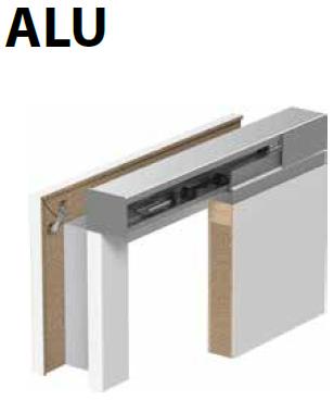 Un set complet include: • sistem de perete • foaie de ușă (în varianta glisantă) • toc tunel