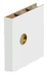 Mâner rotund pentru uşi glisante inclus în preţul canatului culoare argintiu (pentru uşi albe) şi auriu (pentru uşi culoarea lemnului).