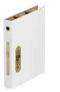Broască specială cu mâner lateral şi frontal, pentru uşi glisante, culoare auriu, auriu mat, argintiu, argintiu mat