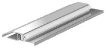Prag de inox pentru tocuri de uşi Porta: standard (90 mm), extins (120 mm)