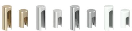 • Capace pentru balamale standard pentru uşi de interior (set pentru 1 buc): • auriu, alb, argintiu mat, crom