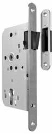 Broască magnetică: cu plăcuță frontală din oțel inoxidabil • pentru uși cu și fără falț • contraplacă ajustată pentru ușile fără falț Recomandăm alegerea balamalelor pe culoarea argintiu mat.