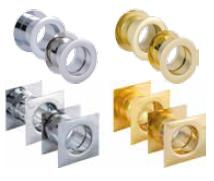 Inele pentru orificiile de ventilaţie Culori disponibile: auriu, auriu mat, argintiu, argintiu mat
